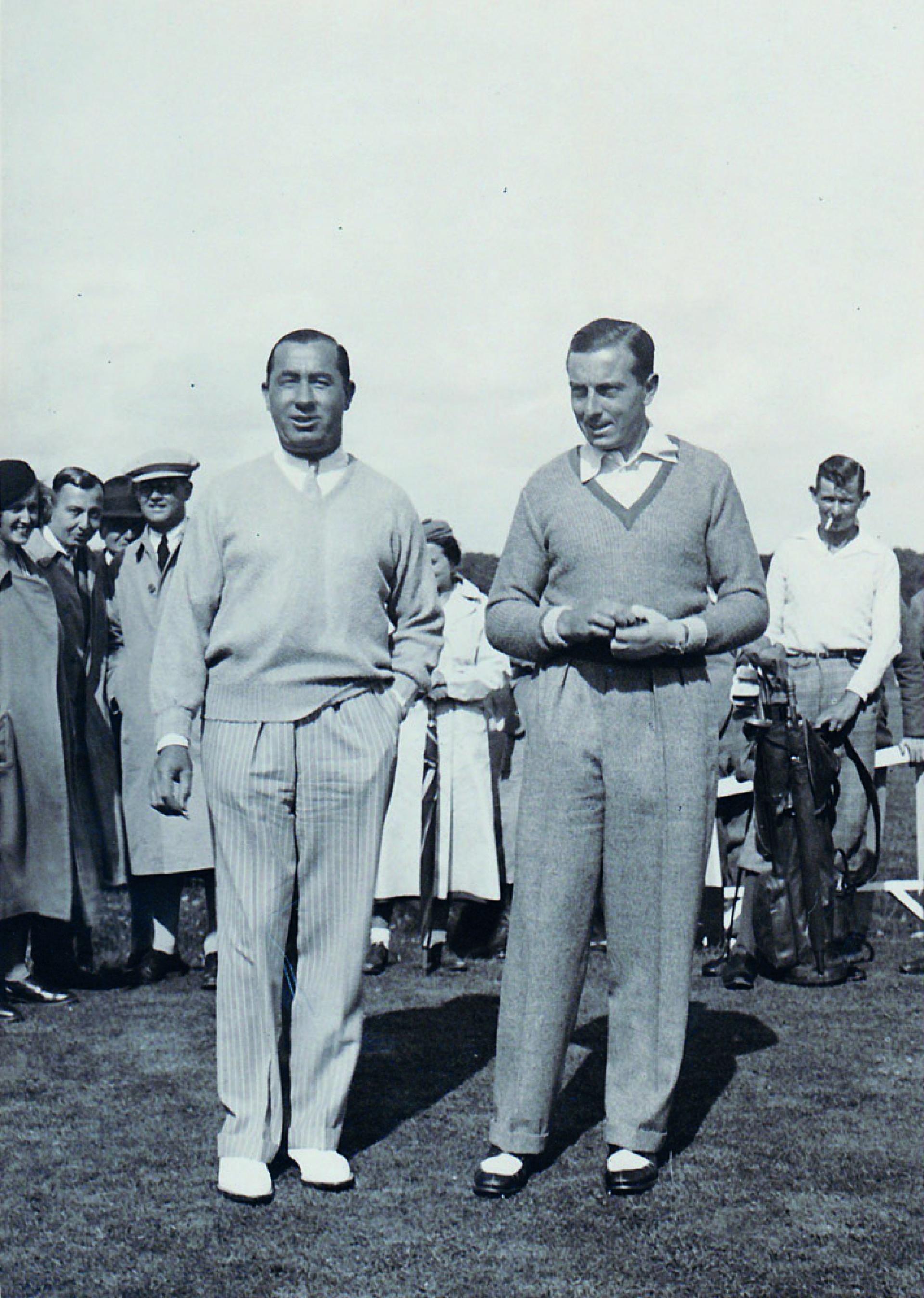 Walter Hagen et Henri Cotton