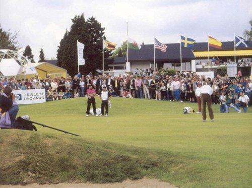 Le Volvo Belgian Open, 1989. Gordon Brand putte au 9 de la Marache